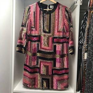 ASOS Sequin Party Midi Dress